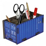 container pennenbeker, blauw