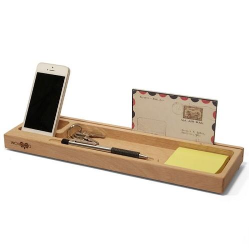 bureau organizer eikenhout groot hout bureaubewust. Black Bedroom Furniture Sets. Home Design Ideas