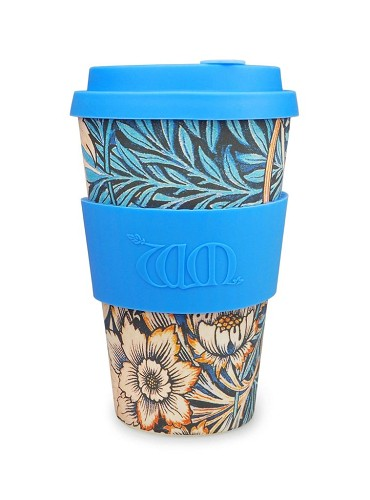 reisbeker Ecoffee, groot, William Morris, 'Lily'