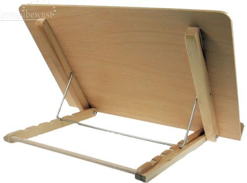 Houten lessenaar met bladhouders houten bureau accessoires bureaub - Houten bureau voor kinderen ...