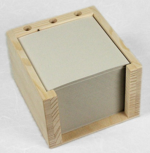 Vurenhouten memohouder met 3 pengaten houten bureau accessoires bu - Houten bureau voor kinderen ...