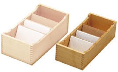 Houten kaartenbak voor a7 of cd 39 s 39 le bureau naturel 39 bureaubewust - Houten bureau voor kinderen ...